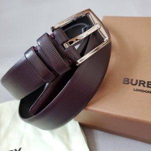 "NEW Burberry Men slim 1.15"" Leather dress Belt"